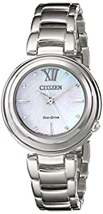 Citizen Women's EM0330-55D Sunrise Analog Display Japanese Quartz Silver Watch