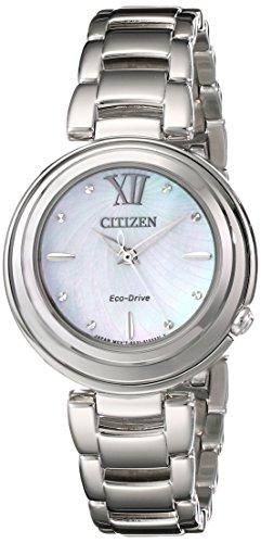 Citizen Women'S Em0330-55D Citizen L Sunrise Analog Display Japanese Quartz Silver Watch