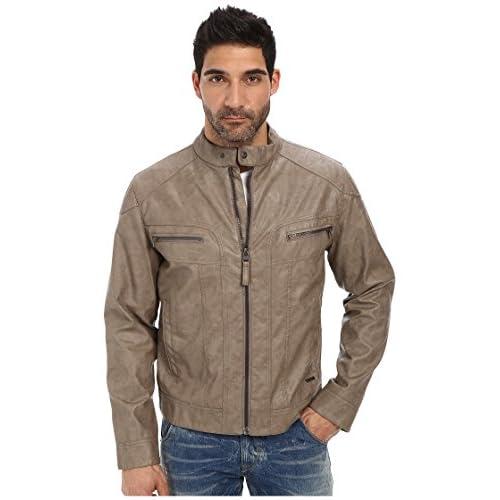 [カルバンクライン] Calvin Klein メンズ Faux Leather Moto Jacket ジャケット Mink XL [並行輸入品]