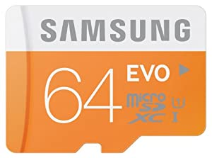Samsung Grade 1 Class 10 64GB Evo Micro SDXC Memory Card with SD Adapter