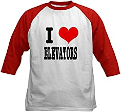 CafePress Kids Baseball Jersey - I Heart Love Elevators Kids Baseball Jersey