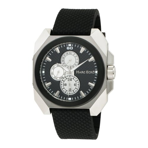 Marc Ecko Mens Watch E11585G1 with Black Dial and Black PU Strap