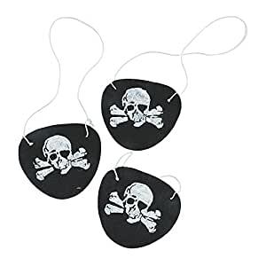 Felt Pirate Eye Patches 1 Dozen