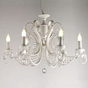 30 luxury european painted white iron crystal hanging chandeliers