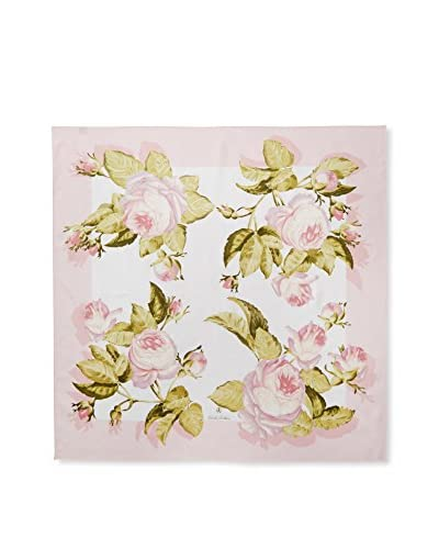 Brooks Brothers Women's Floral Scarf, Pink