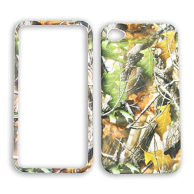 Apple iPhone 4 (AT&T/Verizon) Camo / Camouflage Hunter, w/ Green Leaves iPhone 4 Hard Case/Cover/Faceplate/Snap On/Housing/Protector