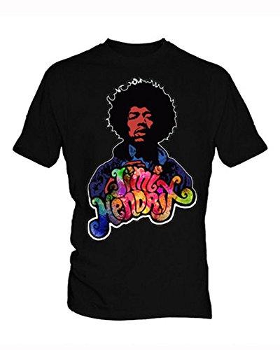Jimi Hendrix 2 Uomo Black T Shirt