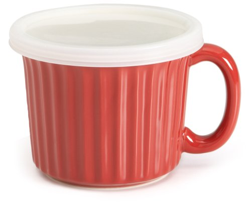 Good Cook Ceramic 18 Ounce Soup Dish, Red (Good Cook Oven Fresh compare prices)