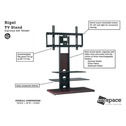 Image of Bush MySpace Rigel Swivel Mount TV Stand (MY17850-03)