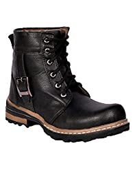 Prolific Men Synthetic Leather Casual Boot Black