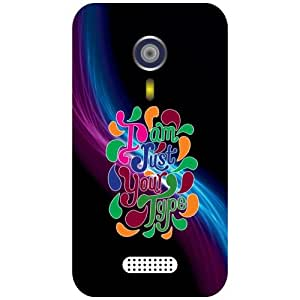 Micromax A 116 Phone Cover - Sloganic Matte Finish Phone Cover