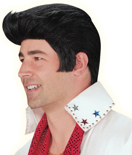 Authentic Adult Elvis Presley Wig - Adult Std. (Famous People With Wigs)