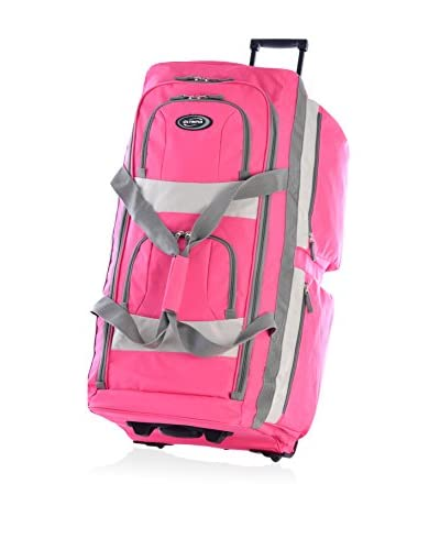 Olympia 33″ 8 Pocket Rolling Duffel, Hot Pink