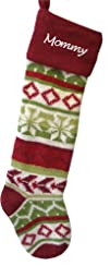 Wool Christmas Stockings – Red Cuff -…