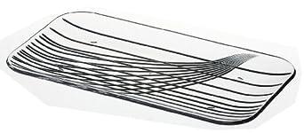 "Carlisle 641707 Clear Festival Trays Rectangular Tray, 12-1/2"" (Case of 6)"
