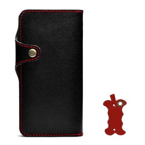 [550] iPhone6S iphone6 手帳型ケース 栃木レザー ブラック 左手持ち