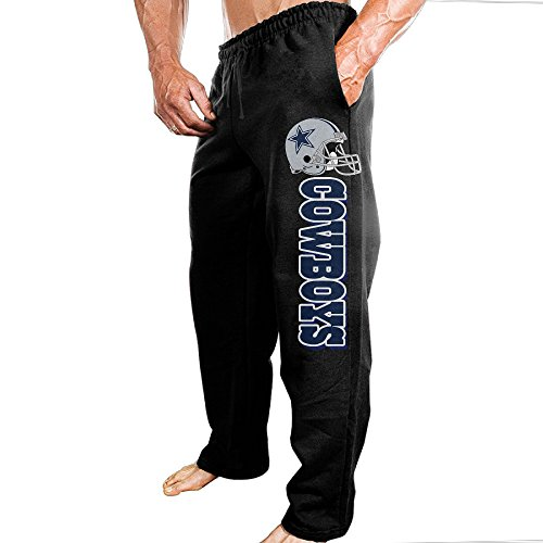 SSDDFF Mens Dallas American Football Team Cowboys Comfortable Tour Sweatpants Leisure Wear Size M Black (Hotel Dallas compare prices)