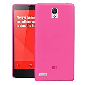 REDMI NOTE 4G Back cover, PP [0.35mm] Ultra-Thin / Slim [ Perfect Fit ] Thinnest Hard Protect Case Back Cover Bumper [ Semi-transparent ] Lightweight for XIAOMI REDMI NOTE 4G (Pink)