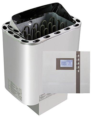 Edelstahl-Saunaofen-Nordex-8-kW-mit-Design-Saunasteuerung-EOS-Econ-D2-mit-Zeitvorwahl-und-WelaSol-Olivin-Diabas-Saunasteine