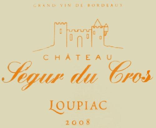 2008 Chateau Segur Du Cros Loupiac 375 Ml