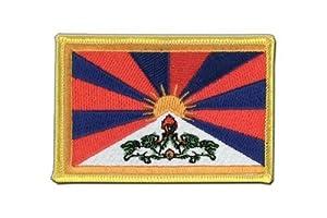 MaxFlags® écusson brodé drapeau Tibet 6x8cm