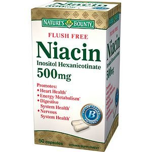 Nature'S Bounty Flush Free Niacin, Inositol Hexanicotinate, 500 Mg 50 Capsules