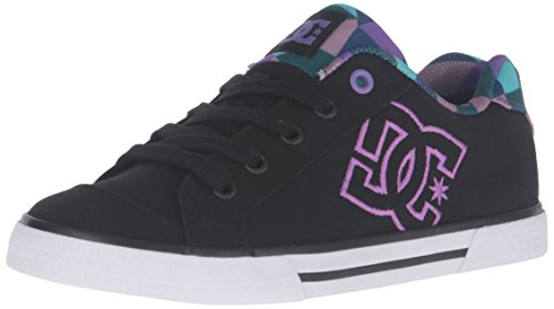 DC Chelsea TX SE Skate Shoe, Black/Purple, 10.5 M US