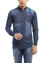 Vintage Premium Blue Casual slim Fit Shirt