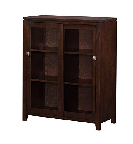 Simpli Home Cosmopolitan Medium Storage Cabinet, Coffee Brown