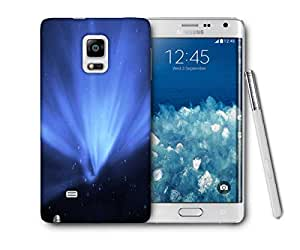 Snoogg Blue Stars Printed Protective Phone Back Case Cover For Samsung Galaxy NOTE EDGE