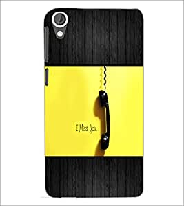 PrintDhaba Quote D-5072 Back Case Cover for HTC DESIRE 820 (Multi-Coloured)