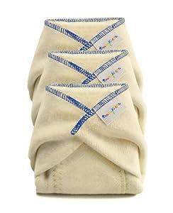 BabyKicks 3 Pack Prefold Diaper, X-Large