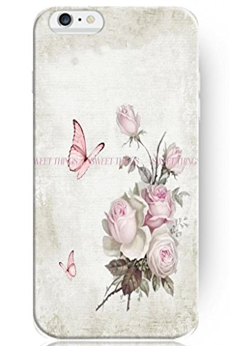 Sprawl Hot Fashion Design Ultra Slim Hard Cover For Apple Iphone 6 (5.5) -- Retro Rose And Butterfly