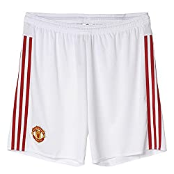 adidas Men's Polyester Shorts (4055015081564_AC1420_XL_White and Red)