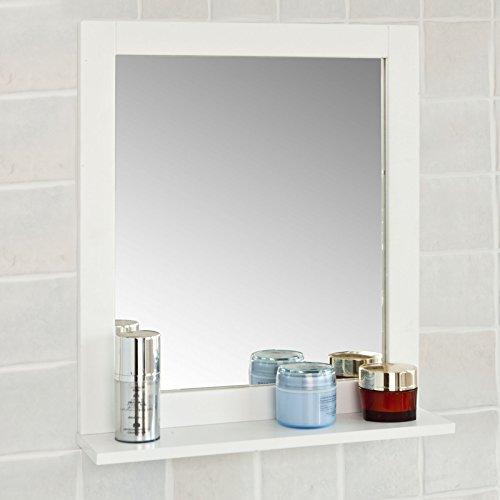 sobuy spiegel wandspiegel badspiegel mit ablage frg129 w. Black Bedroom Furniture Sets. Home Design Ideas