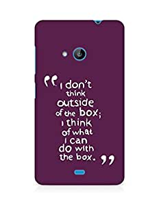 AMEZ i dont think out of the box Back Cover For Microsoft Lumia 535
