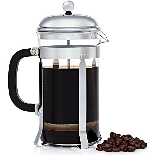 JavaPresse French Press Coffee Maker - Serves Cold Brew, Tea, & More - Reinforced Glass Carafe 34 oz