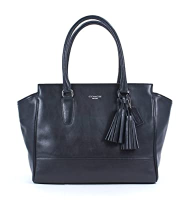 NWT Coach Legacy Leather Candace Carryall Satchel Purse Black Silver 24201