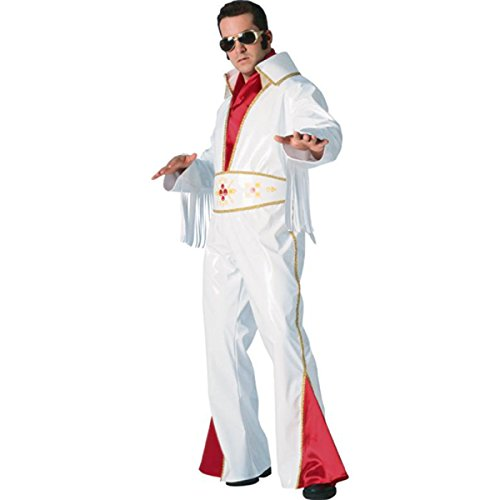 Men Med (38-40 Jacket) Elvis Vinyl Rock Star Costume