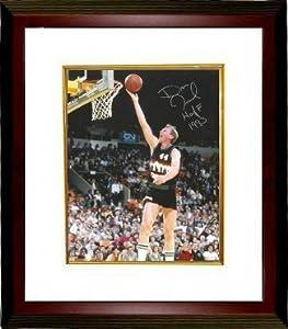 Dan Issel signed Denver Nuggets 8x10 Photo HOF 1993 Custom Framed