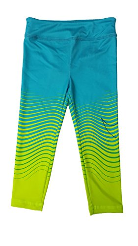 Nike Little Girls' Sport Essentials Printed Leggings (4T, Hyper Jade)