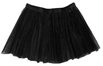 A-Express® Tutu Skirt Black Fits UK Adult Plus Size (18 to 24)