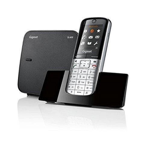 Siemens - Téléphone sans fil Gigaset SL400 metall/pianoschwarz