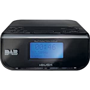 hsb bundle bush dab alarm clock radio black with mini stylish portable colour changing. Black Bedroom Furniture Sets. Home Design Ideas