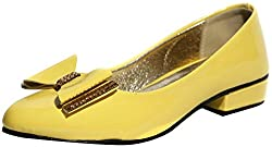 Craze Shop Girls Yellow Artificial Leather Bellies - 10 UK