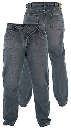 "Rockford Duke Herren Jeans Gerades Bein Dirty Denim Größe 30""- 40"" W RJ370 - DISTRESS WASH, 38W x 32L"