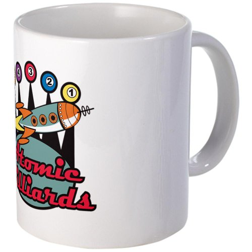 Cafepress Retro Atomic Billiards Pool Hall Sign Mug - Standard