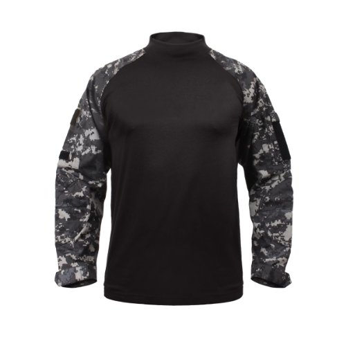 Subdued Urban Digital Camouflage Tactical Combat Shirt, Size X-Large