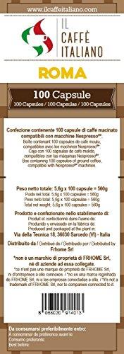 Buy 100 Nespresso® Compatible Coffee Capsule - Coffee Roma -100 x coffee capsules/pods espresso compatible Nespresso - (20 Pack of 5 total of 100 Capsules, 100 servings) - Il Caffè Italiano by il caffè italiano