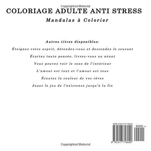 Coloriage Adulte Anti Stress: Vous pouvez voir le sens de l'intérieur: Volume 6 (Mandalas à Colorier)